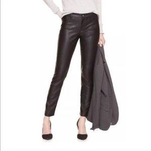Banana Republic faux leather skinny pants vegan